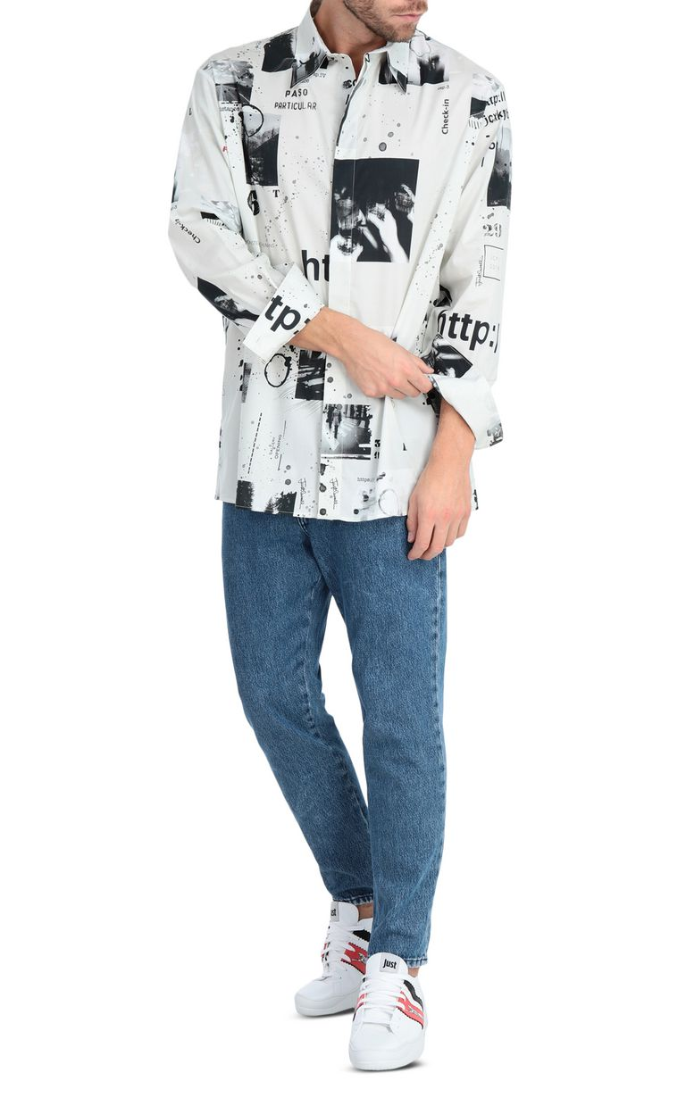 JUST CAVALLI Oversized storyboard-print shirt Long sleeve shirt Man d