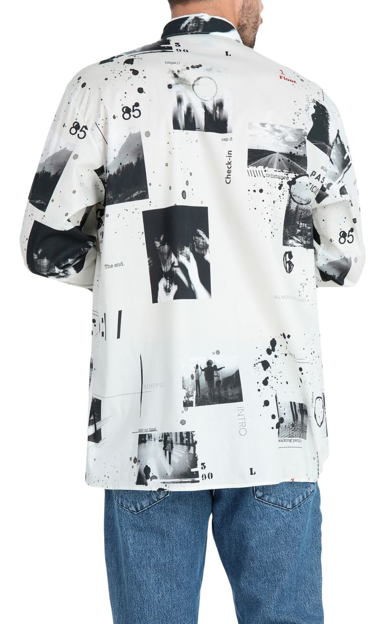 JUST CAVALLI Oversized storyboard-print shirt Long sleeve shirt Man r