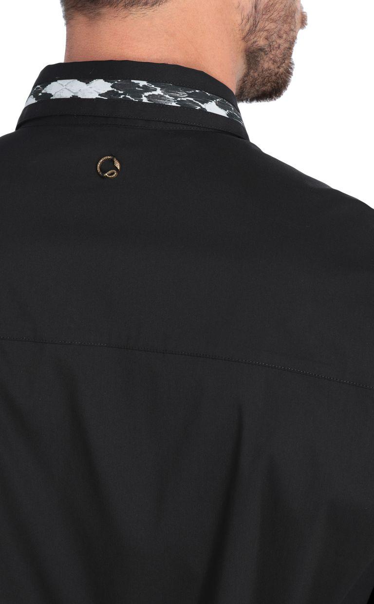 JUST CAVALLI Black shirt with animal-print band Long sleeve shirt [*** pickupInStoreShippingNotGuaranteed_info ***] e