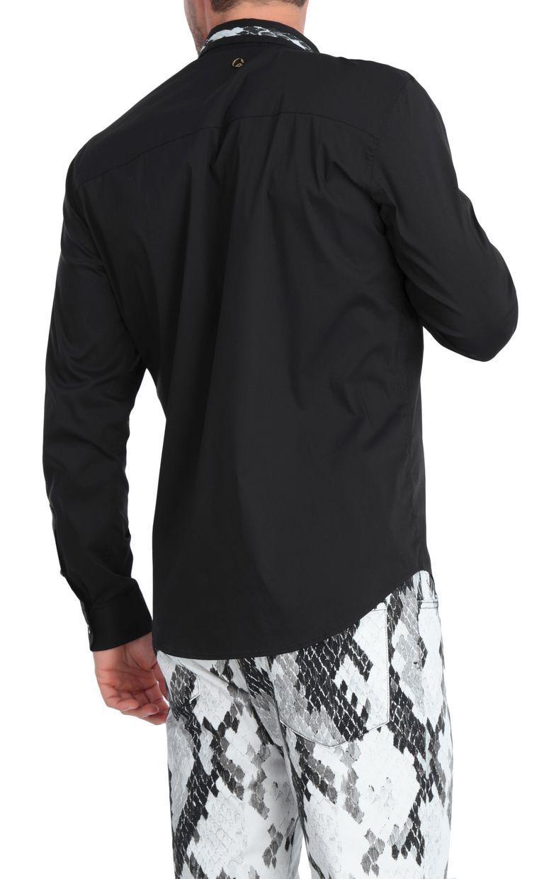 JUST CAVALLI Black shirt with animal-print band Long sleeve shirt [*** pickupInStoreShippingNotGuaranteed_info ***] r
