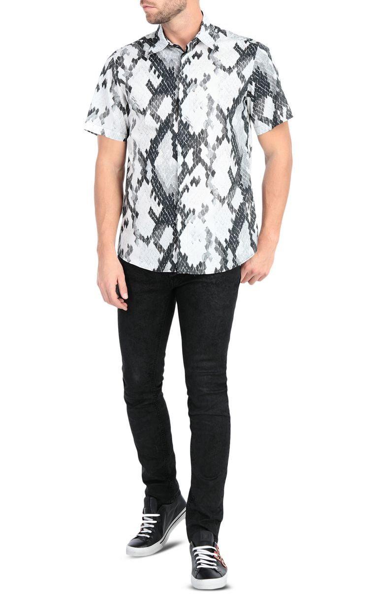 JUST CAVALLI Python-print shirt Short sleeve shirt Man d