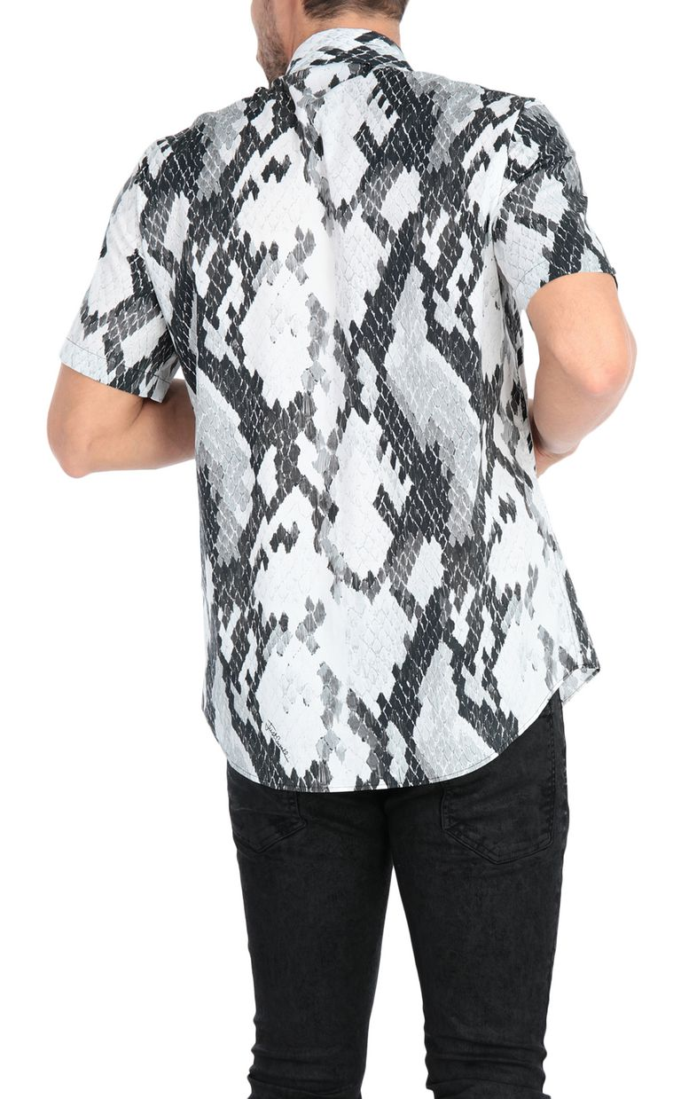 JUST CAVALLI Python-print shirt Short sleeve shirt Man r