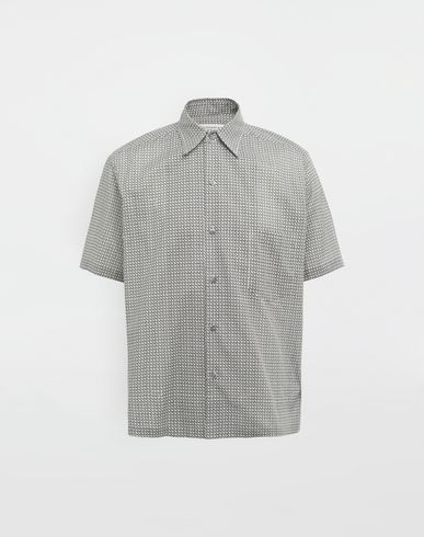 MAISON MARGIELA Short sleeve shirt [*** pickupInStoreShippingNotGuaranteed_info ***] Micro Square print shirt f