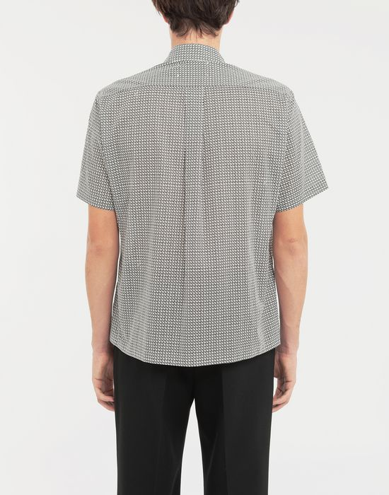 MAISON MARGIELA Micro Square print shirt Short sleeve shirt [*** pickupInStoreShippingNotGuaranteed_info ***] e