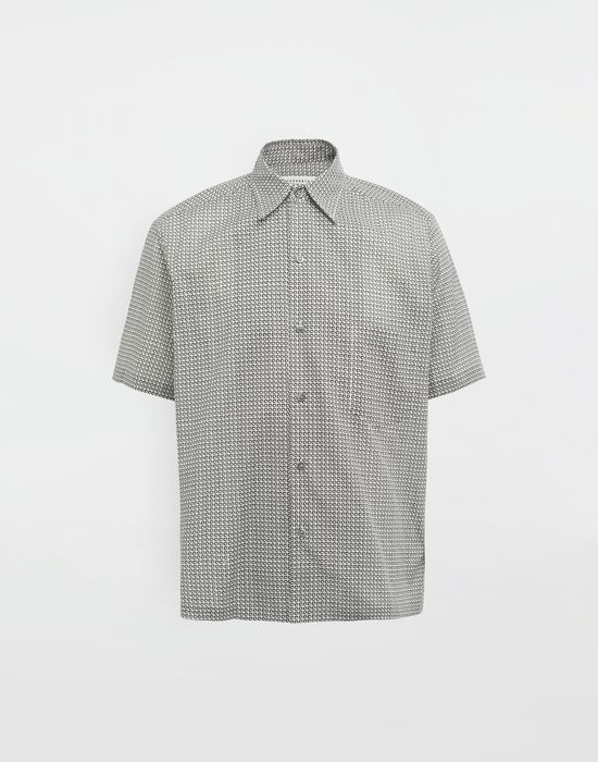 MAISON MARGIELA Micro Square print shirt Short sleeve shirt [*** pickupInStoreShippingNotGuaranteed_info ***] f