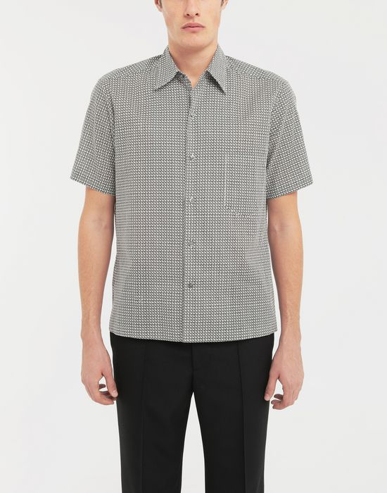 MAISON MARGIELA Micro Square print shirt Short sleeve shirt [*** pickupInStoreShippingNotGuaranteed_info ***] r