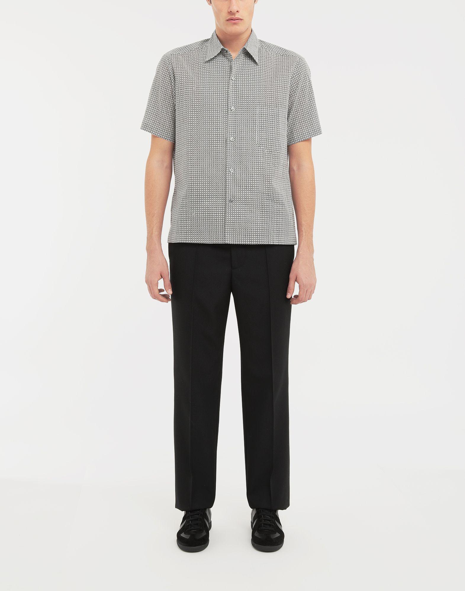 MAISON MARGIELA Micro Square print shirt Short sleeve shirt Man d