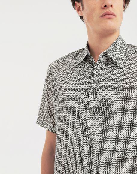 MAISON MARGIELA Micro Square print shirt Short sleeve shirt Man a