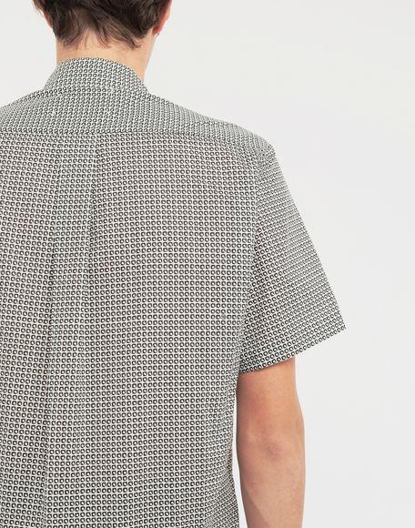 MAISON MARGIELA Micro Square print shirt Short sleeve shirt Man b