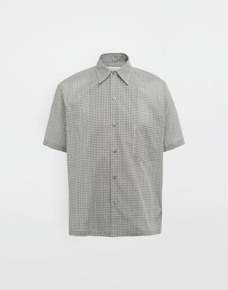 MAISON MARGIELA Micro Square print shirt Short sleeve shirt Man f