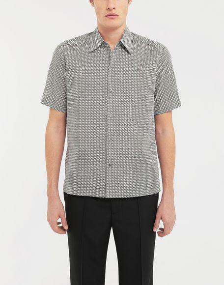 MAISON MARGIELA Micro Square print shirt Short sleeve shirt Man r