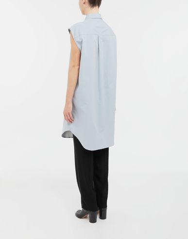 SHIRTS Sleeveless long cotton shirt