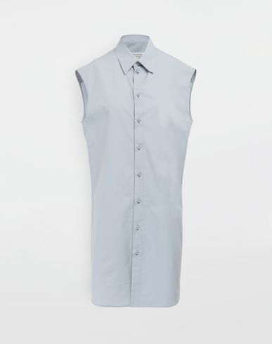 MAISON MARGIELA Sleeveless shirt [*** pickupInStoreShipping_info ***] Sleeveless long cotton shirt f