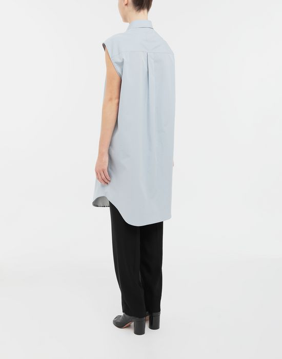 MAISON MARGIELA Sleeveless long cotton shirt Sleeveless shirt [*** pickupInStoreShipping_info ***] e