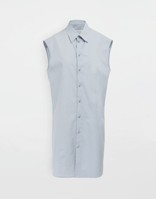 MAISON MARGIELA Sleeveless long cotton shirt Sleeveless shirt [*** pickupInStoreShipping_info ***] f