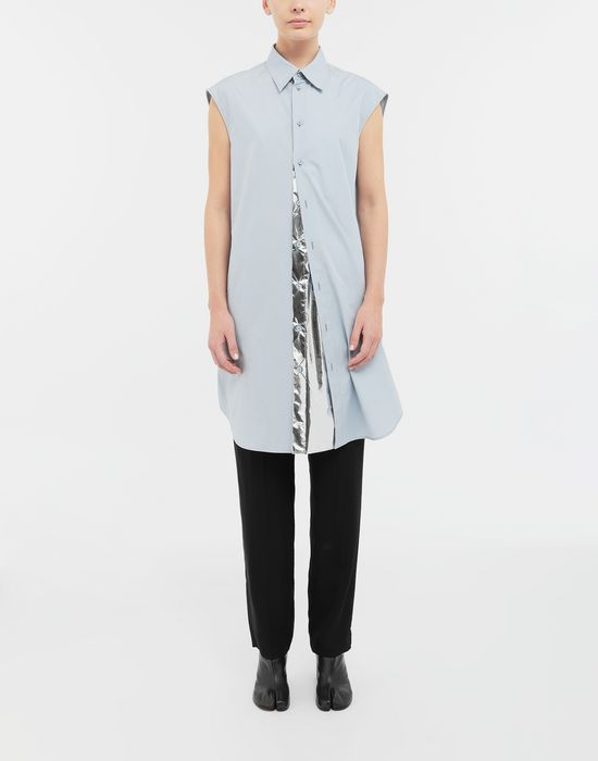 MAISON MARGIELA Sleeveless long cotton shirt Sleeveless shirt [*** pickupInStoreShipping_info ***] r