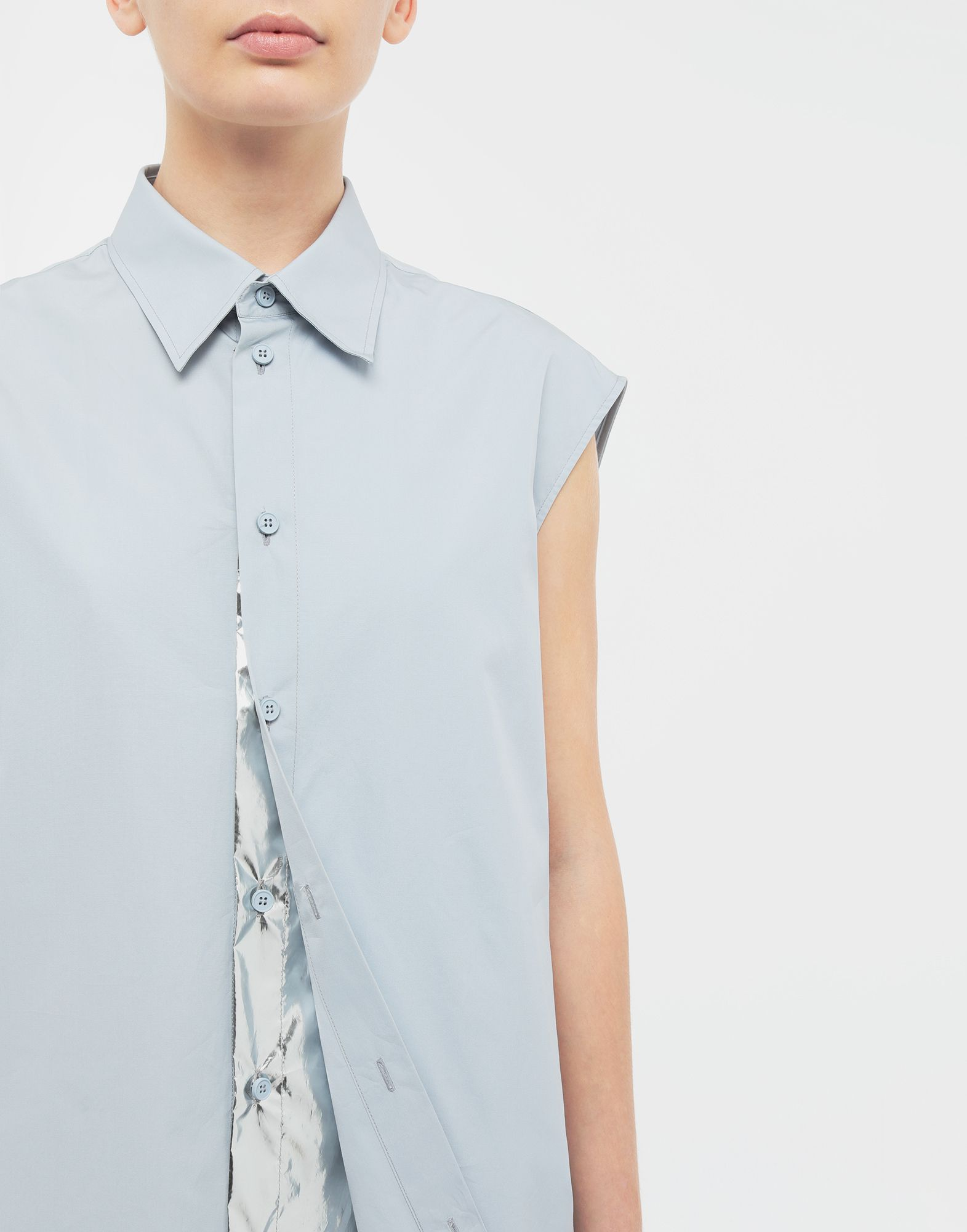 MAISON MARGIELA Sleeveless long cotton shirt Sleeveless shirt Woman a
