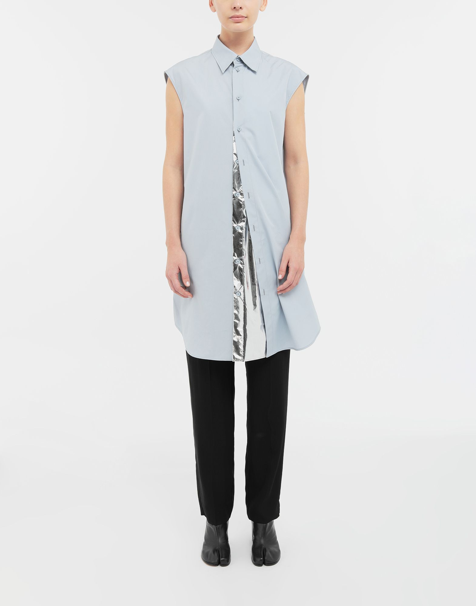 MAISON MARGIELA Sleeveless long cotton shirt Sleeveless shirt Woman r