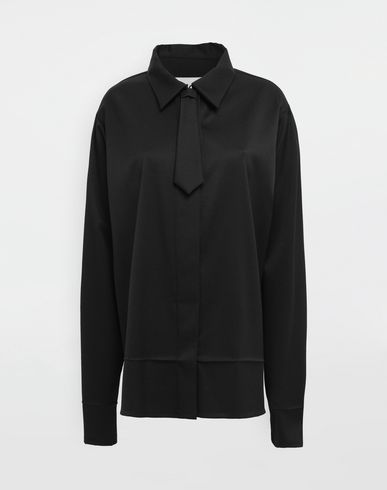MM6 MAISON MARGIELA Oversized necktie shirt Long sleeve shirt [*** pickupInStoreShipping_info ***] f