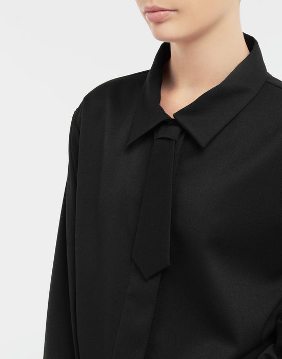 MM6 MAISON MARGIELA Oversized necktie shirt Long sleeve shirt [*** pickupInStoreShipping_info ***] a