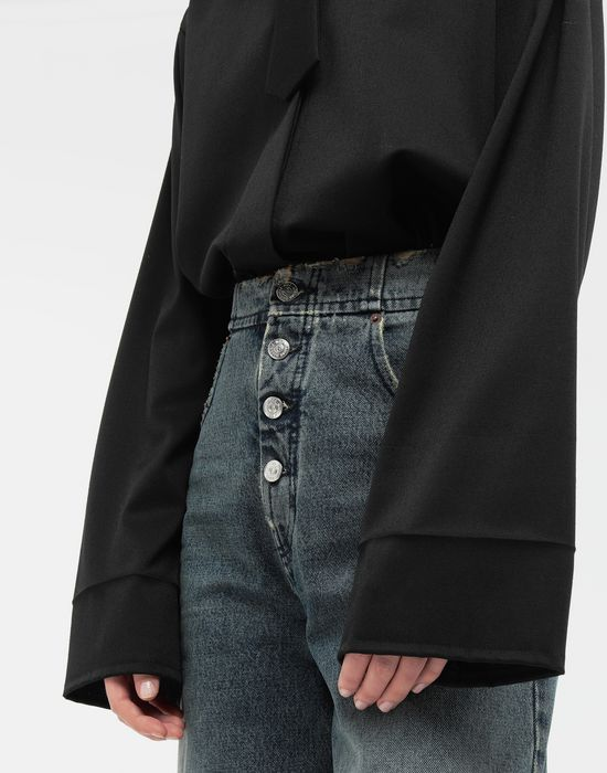 MM6 MAISON MARGIELA Oversized necktie shirt Long sleeve shirt [*** pickupInStoreShipping_info ***] b