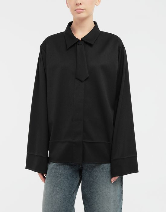 MM6 MAISON MARGIELA Oversized necktie shirt Long sleeve shirt [*** pickupInStoreShipping_info ***] r