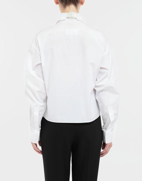 MAISON MARGIELA Cropped buckled collar cotton-poplin shirt Long sleeve shirt Woman e