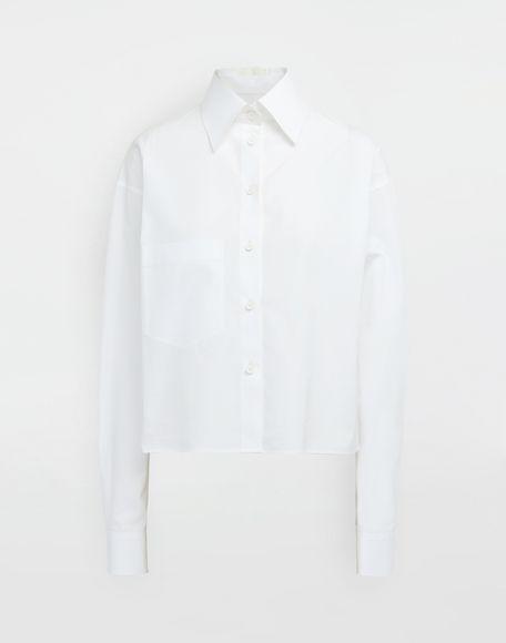 MAISON MARGIELA Cropped buckled collar cotton-poplin shirt Long sleeve shirt Woman f