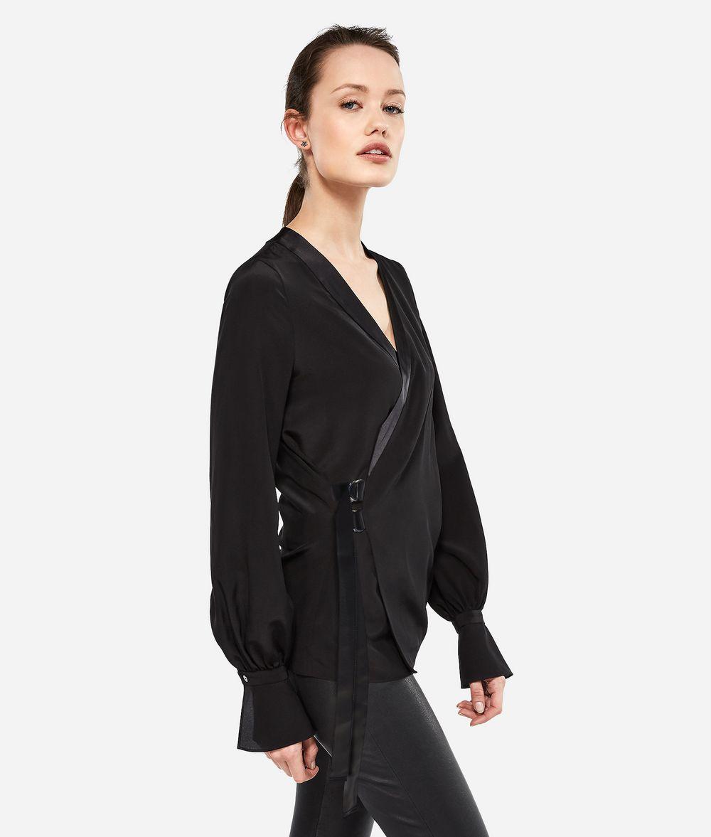 KARL LAGERFELD K/Tokyo Silk Wrap Blouse Blouse Woman d