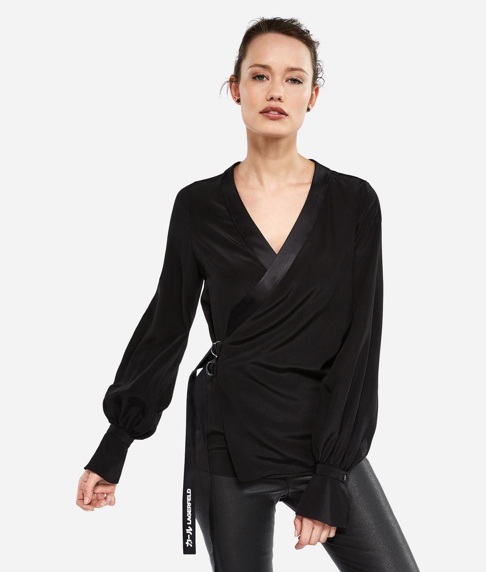 KARL LAGERFELD K/Tokyo Silk Wrap Blouse Blouse Woman f