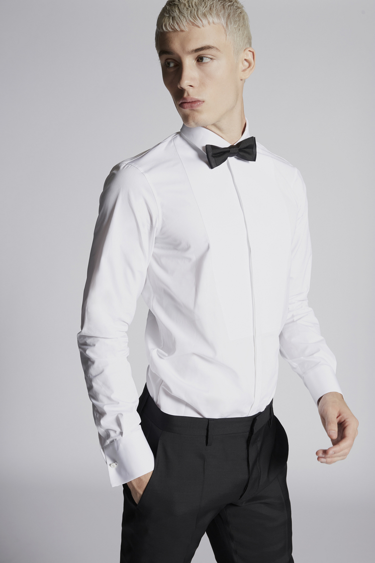 DSQUARED2 Chic Poplin Slim Fit Tux Shirt Shirt Man
