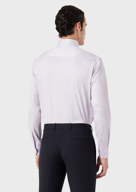 Regular-fit shirt in cotton twill