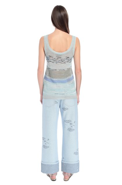 MISSONI Vest Sky blue Woman - Front