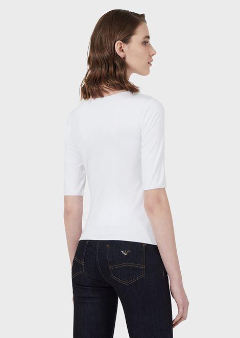 Pullover aus Viskosejersey mit Stretch