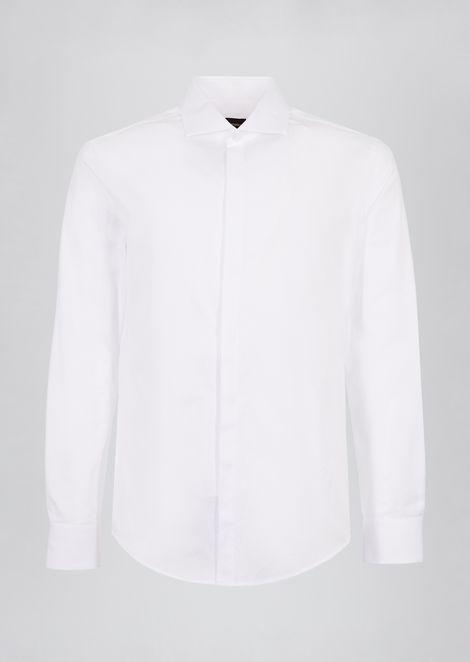 Рубашка из чистого переплетенного хлопка