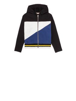 Marni Color block full zipper sweatshirt Man