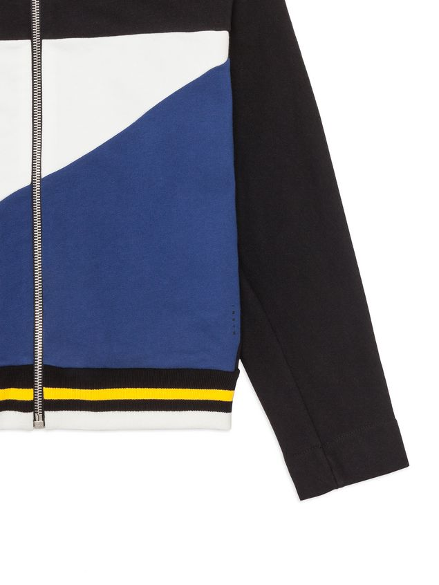 Marni Color block full zipper sweatshirt Man - 4