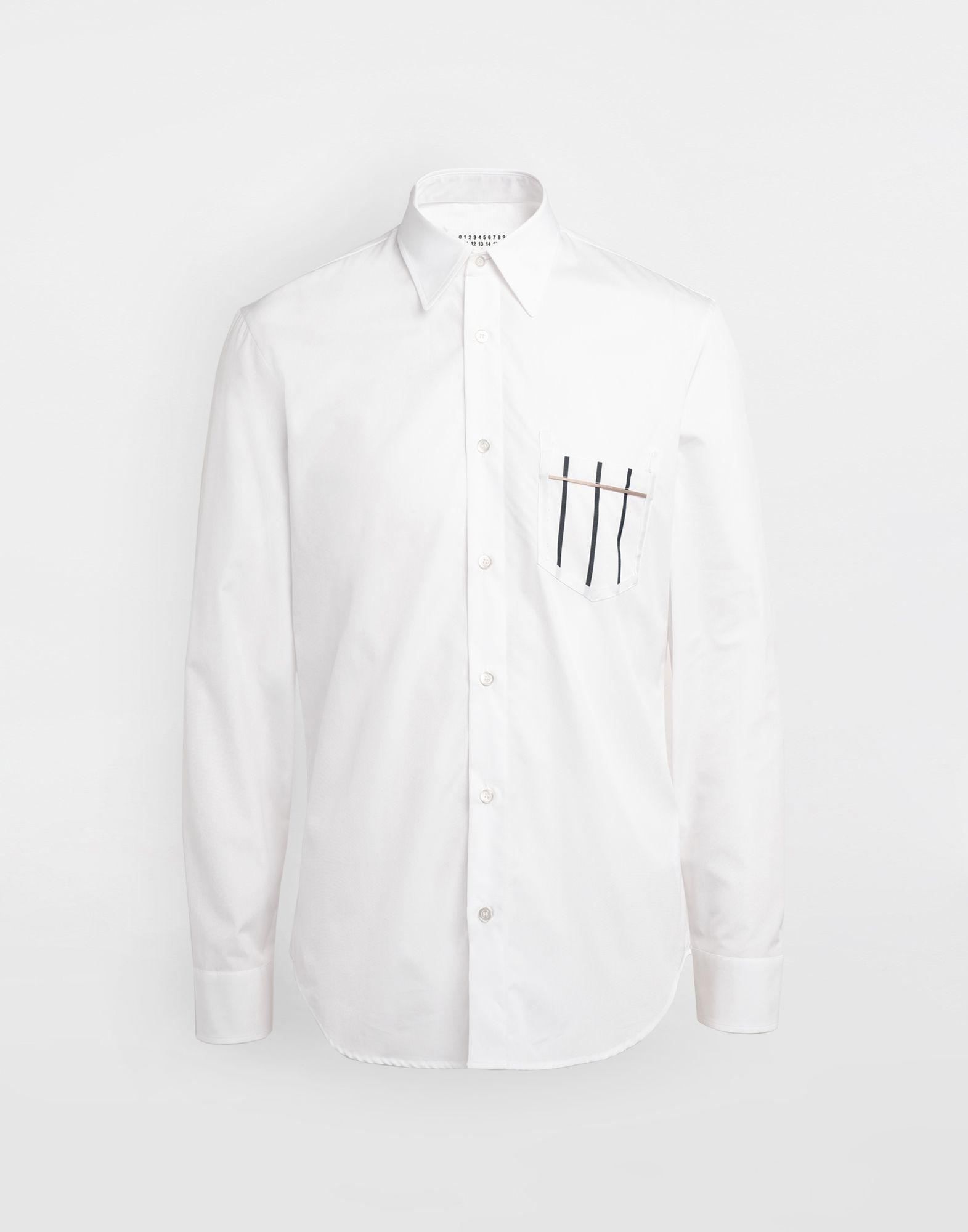 MAISON MARGIELA Patched pocket poplin shirt Long sleeve shirt Man f