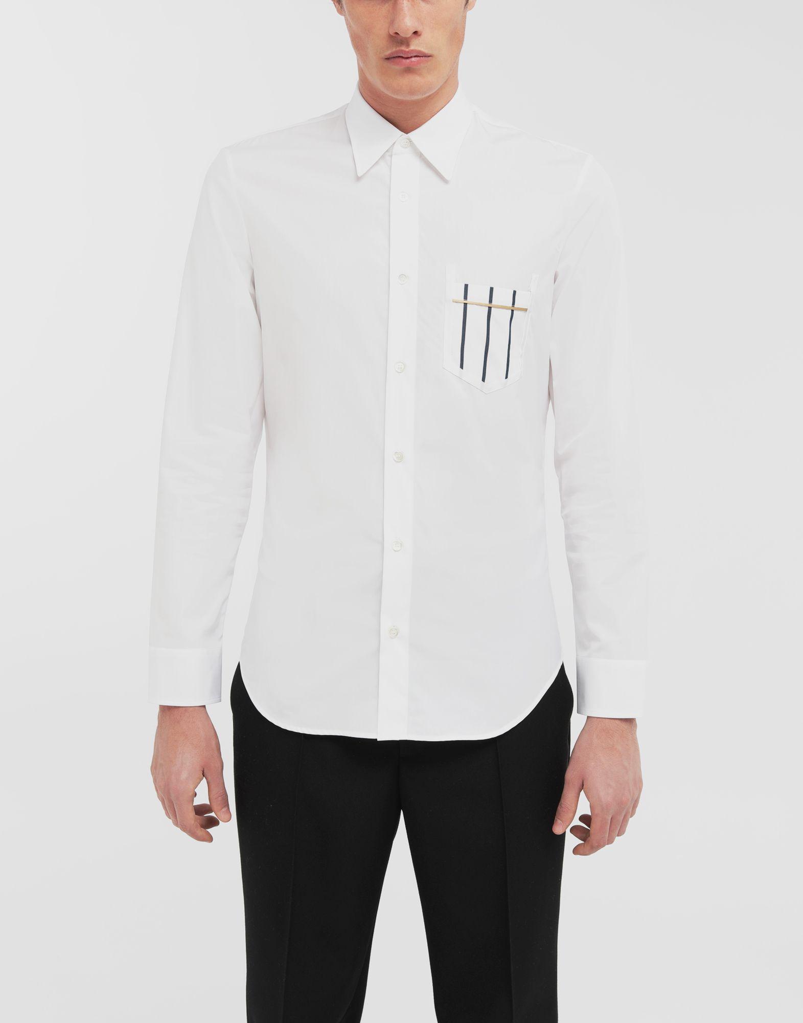 MAISON MARGIELA Patched pocket poplin shirt Long sleeve shirt Man r