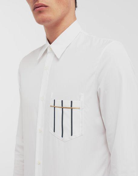 MAISON MARGIELA Patched pocket poplin shirt Long sleeve shirt Man a
