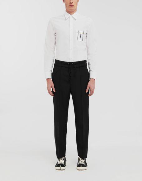 MAISON MARGIELA Patched pocket poplin shirt Long sleeve shirt Man d