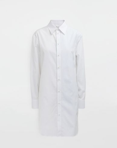 MAISON MARGIELA Long sleeve shirt [*** pickupInStoreShipping_info ***] Oversized cotton-poplin shirt f