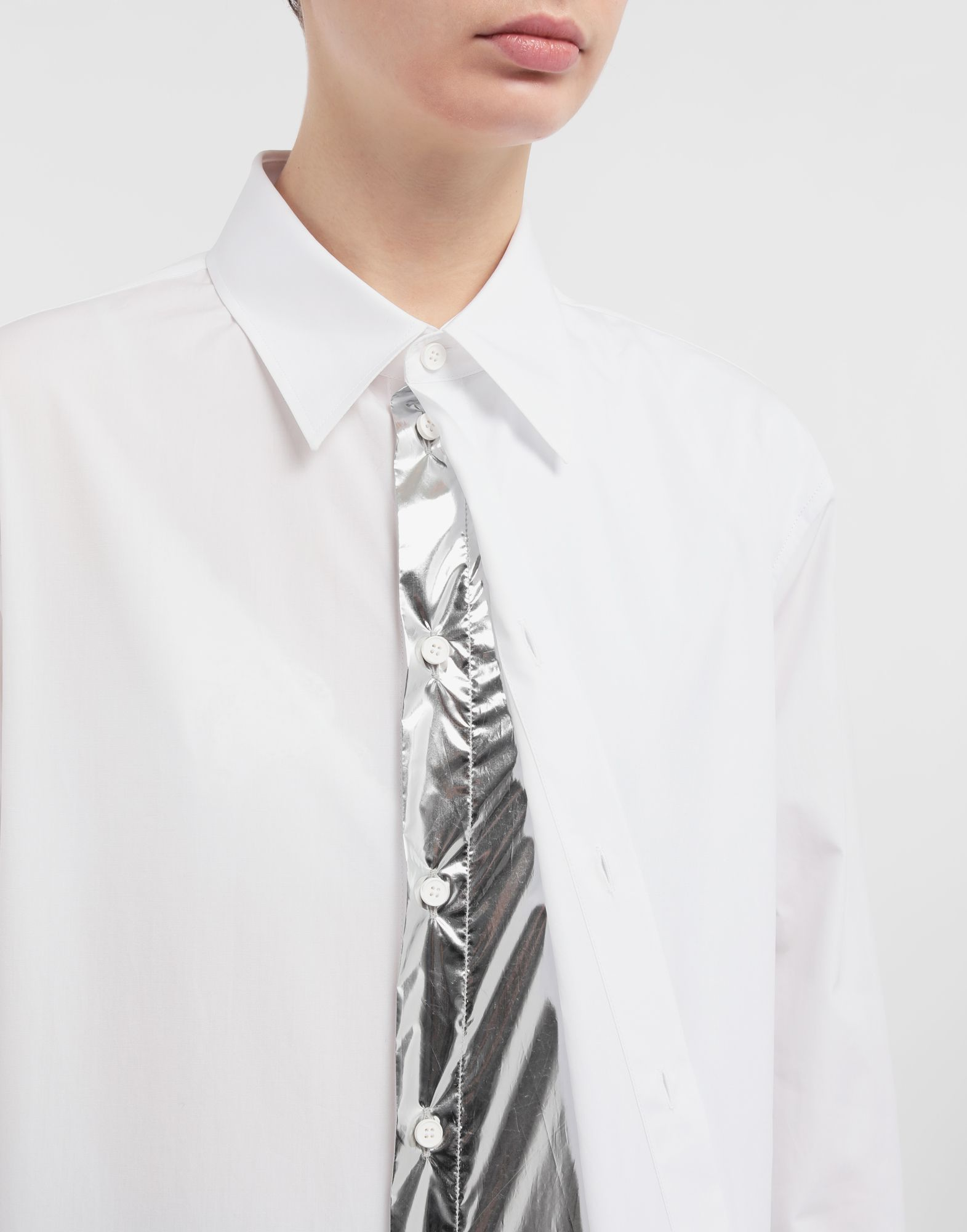 MAISON MARGIELA Oversized cotton-poplin shirt Long sleeve shirt Woman a