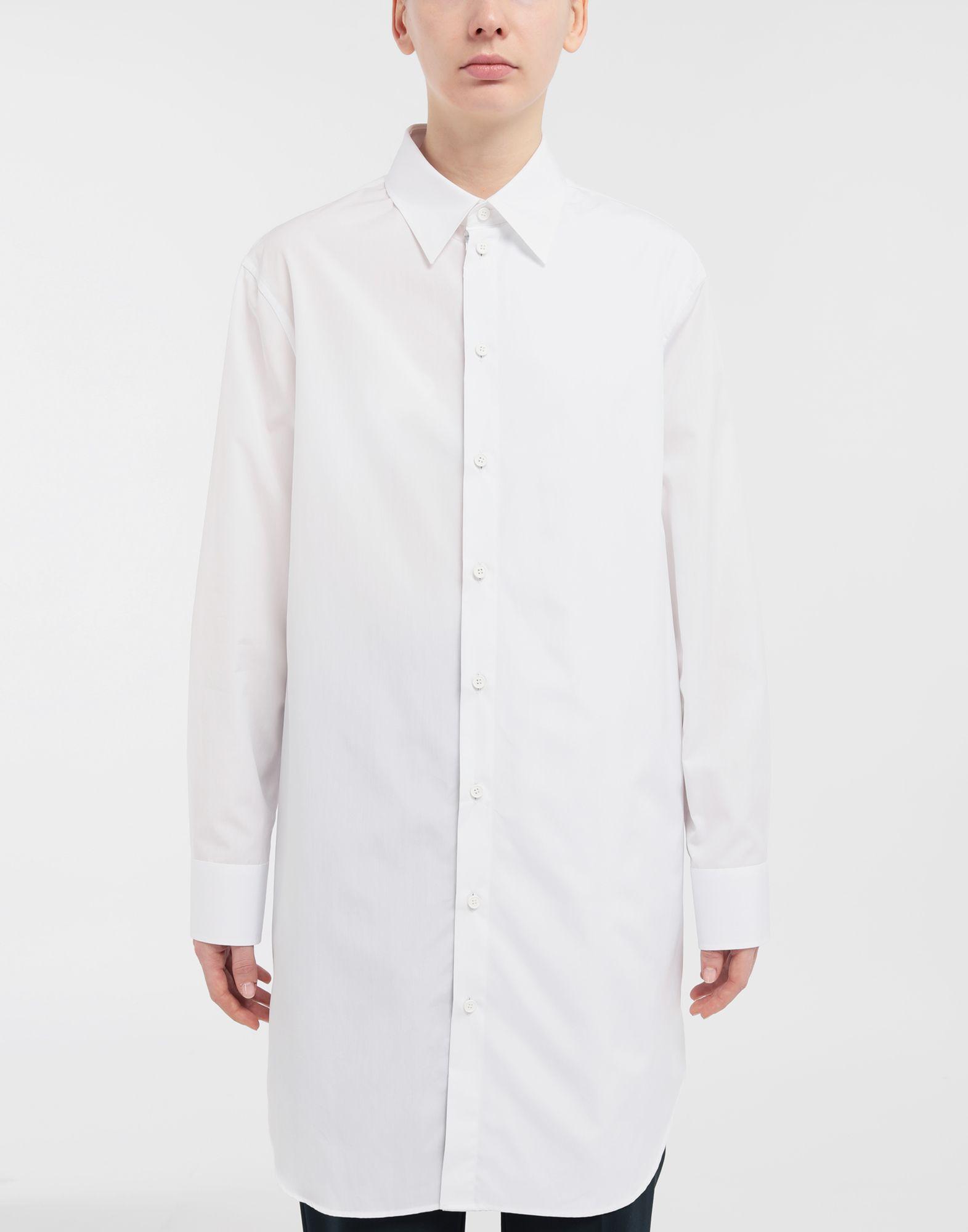 MAISON MARGIELA Oversized cotton-poplin shirt Long sleeve shirt Woman r
