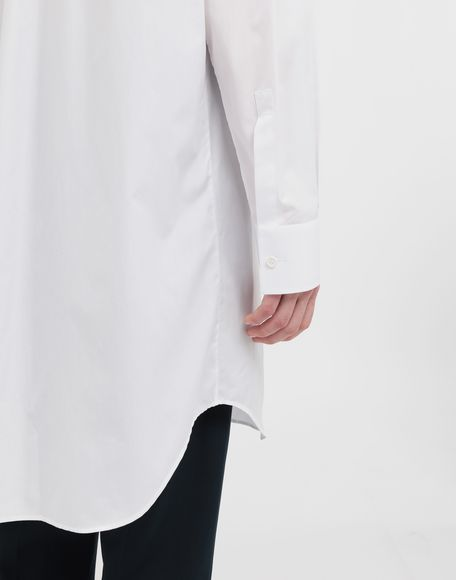 MAISON MARGIELA Oversized cotton-poplin shirt Long sleeve shirt Woman b
