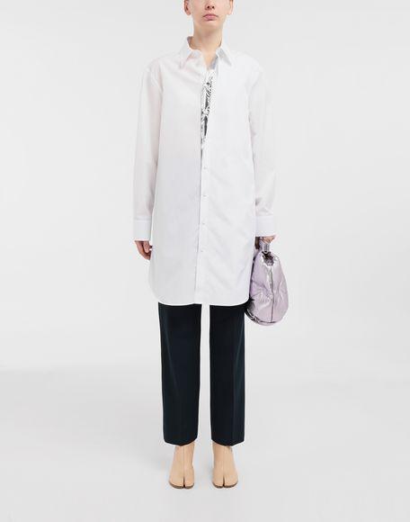 MAISON MARGIELA Oversized cotton-poplin shirt Long sleeve shirt Woman d