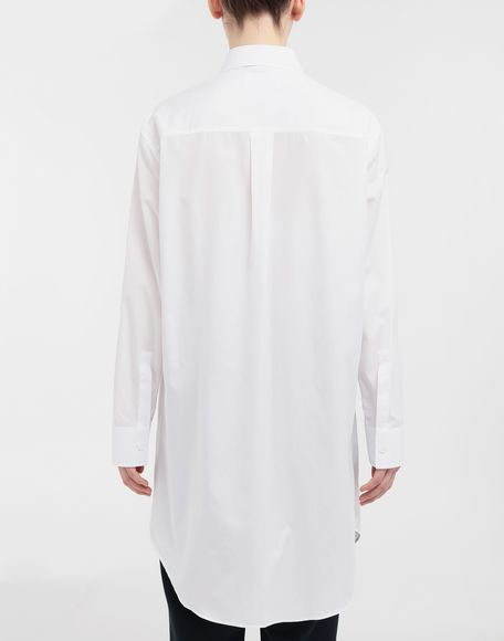MAISON MARGIELA Oversized cotton-poplin shirt Long sleeve shirt Woman e