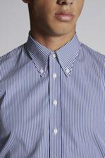 DSQUARED2 Stripes Cotton Slim Fit Classic Shirt Shirt Man