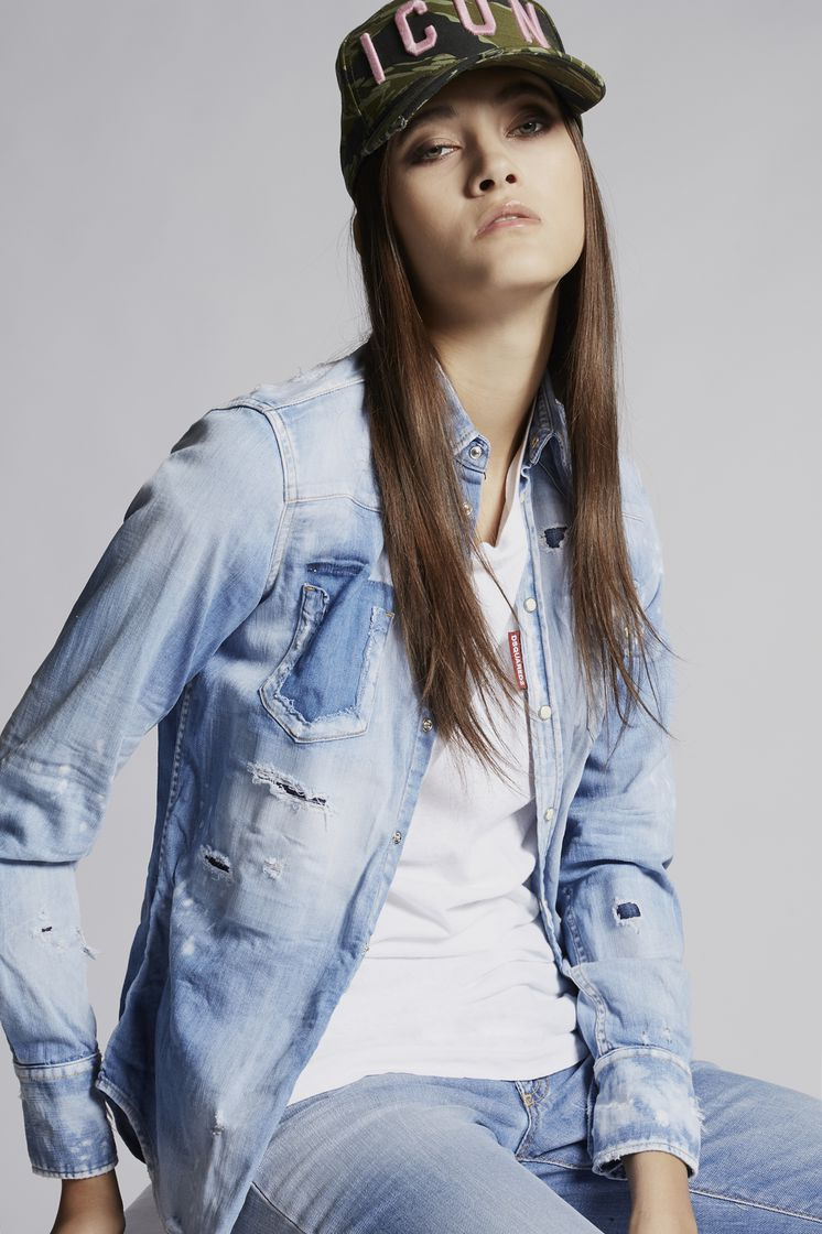 DSQUARED2 Western Denim Shirt Denim shirt Woman