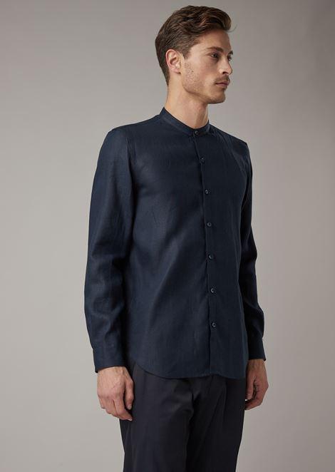 Рубашка прямого кроя из чистого льна